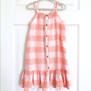 Old Navy button plaid dress